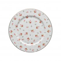 Rose Bud Round Salad Plates, Set of 4