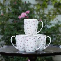 Rose Bud Coffee/Tea Mugs, Set of 4