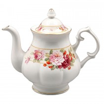 Peony and Strawberry Cream Coffee/Tea Pot