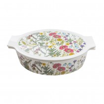 Poppy Field 2 Piece Oval Baker