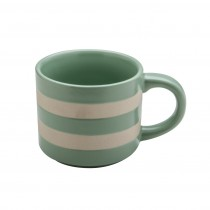 Matte Mint Stripes Texture Mugs, Set of 4