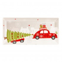 Christams Tree/Car Serving Tray, S/4