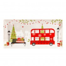 Christams Tree/Bus Serving Tray, S/4