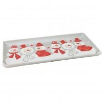 Snowman Family 4 Piece Set Sandwich Trays