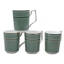 Metro Stripes Mugs, Set of 4