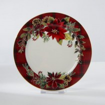 Poinsettia Dessert Plates, Set of 4