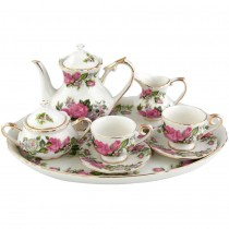 Red Rose 10 Piece Tea Set for Kids