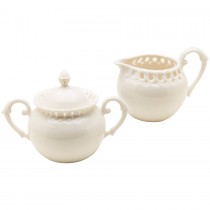 White Heirloom Sugar Creamer Set