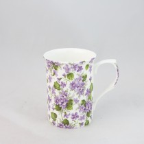 Violet Mugs, Set of 4