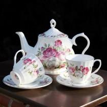 Cottage Rose Bone China Teapot