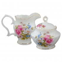 Grace's Rose Sugar and Creamer Set
