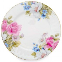 Grace's Rose Dessert Plates, Set of 4