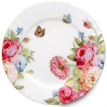 Sandra's Rose Dessert Plates, Set of 4