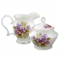 Pansy Sugar and creamer Set