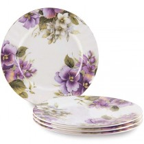 Pansy Dessert Plates, Set of 4