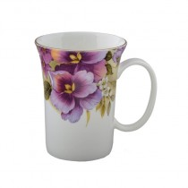 Pansy Trumpet Mugs, Set of 4