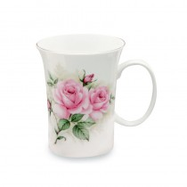 Rose Bouquet Trumpet Mugs, Set of 4