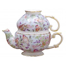 Blue Bird Chintz 3 Piece Tea for One
