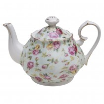 Blue Cottage Rose Chintz Teapot