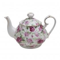 Pink Summer Rose Chintz Teapot