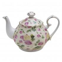Rose Chintz Bouque Yellow Teapot