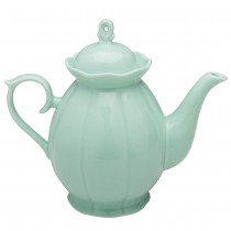 Scallop Mint Teapot