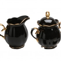 Black Gold  Sugar and Creamer Set
