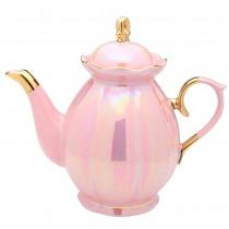 LT pink luster teapot