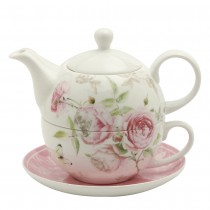 Beau Rose 4 Piece Tea for One Set