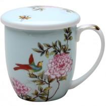 Humming Bird Tea Mug/Lid, Set of 4
