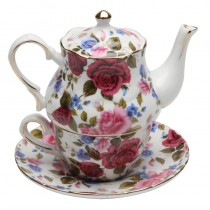 Royal Garden 4 Piece Tea for One, Gift Boxed