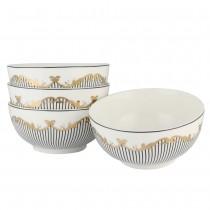 Bridge Black Soup Bowls, Set of 4