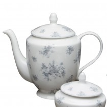 Grey Rose Blue Coffee/Tea Pot