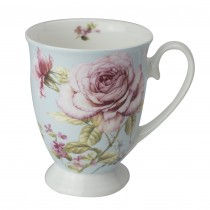 French Garden Tea Footed Mugs. Set of 4