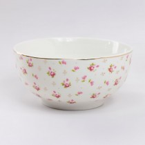 Rose Bud gold Pin Dot Cereal Bowl, Set of 4