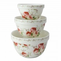 Secret Garden 3 Piece Mixing Bowl Set