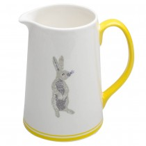 Grey Bunny Yellow Pitcher