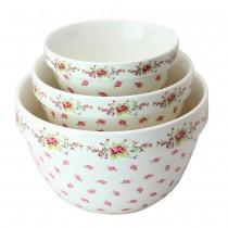 Vintage Rose 3 Piece Mixing Bowl Set