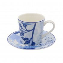 Tokyo Blue Cups and Saucers, Set of 4