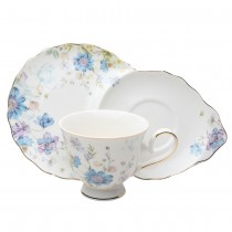 Blue Wild Floral 2 pc Snack Set, Set of 2