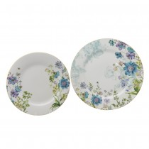 Blue Wild Floral Salad/Dinner Plates