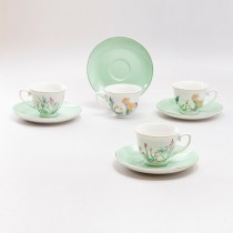Sedona Valley Demi Cup Saucer, Set of 4. Boxed