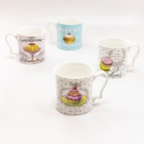 Café De Paris 4 Asst Coffee Mugs, Set of 4