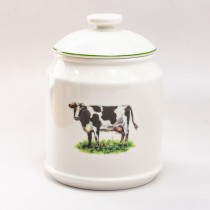 Elegant Farmhouse Canister-COW, S/2