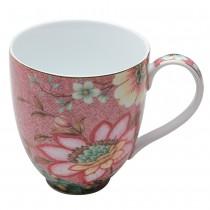 Pink Lotus Garden Mugs, Set of 4