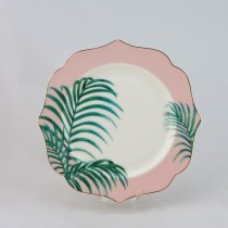 Elephanet and Palm Tree 8 in Plates, Set of 4
