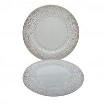 Stardust Bone China Salad Plates, Set of 4