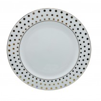 Polka Dots Bone China  Dinner Plates, Set of 4