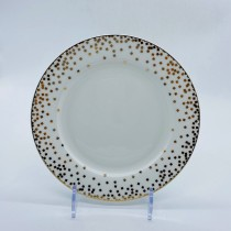 Square Confetti  Bone China  Dinner Plates, Set of 4