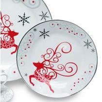 Twinkle Star Reindeer 6in Plates, S/4